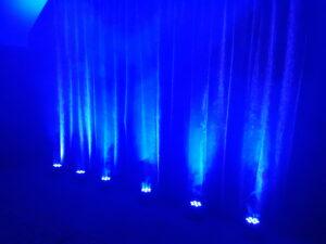 Blue Uplighters