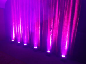 Pink Uplighters